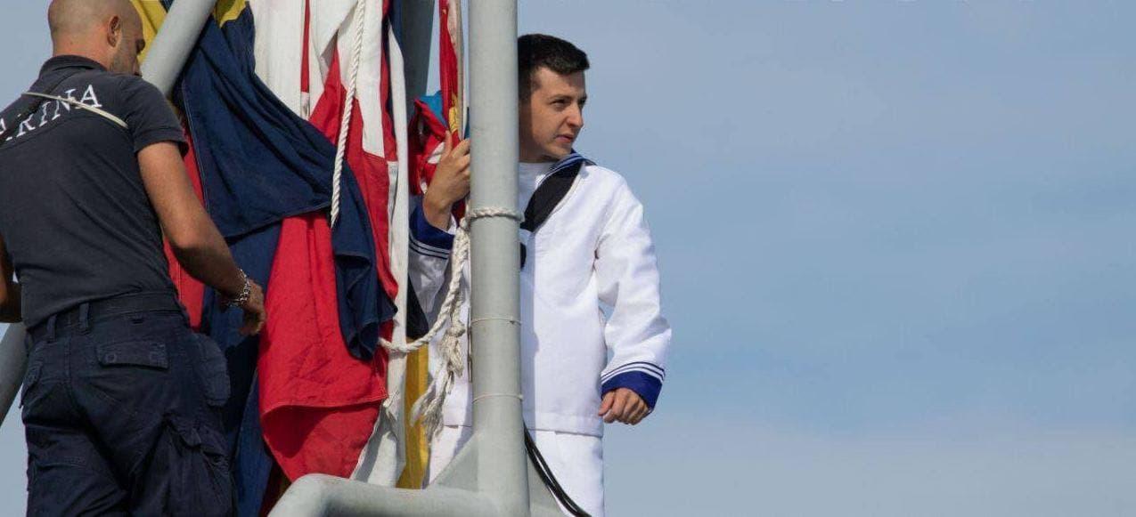 """Під час навчань """"Sea Breeze"""" у Чорному морі помітили двійника Зеленського (фото)"""