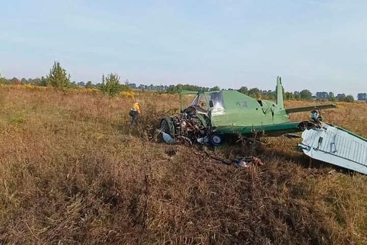 На Житомирщині розбився легкомоторний літак (відео)