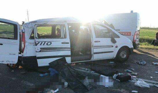 Смертельна ДТП: поблизу Бердянська п'яний водій зіштовхнувся з мікроавтобусом (відео)
