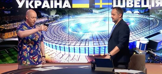 Гордон вилив на себе воду після перемоги України у матчі зі збірною Швеції (відео)