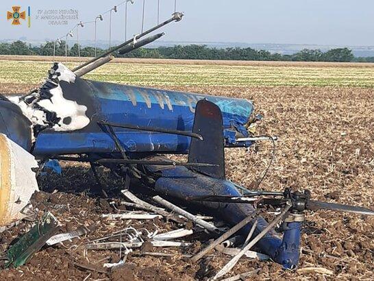 Поблизу Миколаєва впав вертоліт Мі-2: в результаті падіння двоє людей загинули (фото)