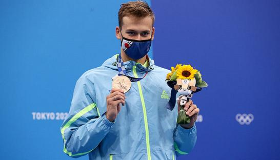 Український плавець Романчук здобув для України четверту «бронзу» в Токіо
