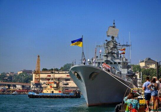 Військово-морський парад до Дня Незалежності України в Одесі (відео)