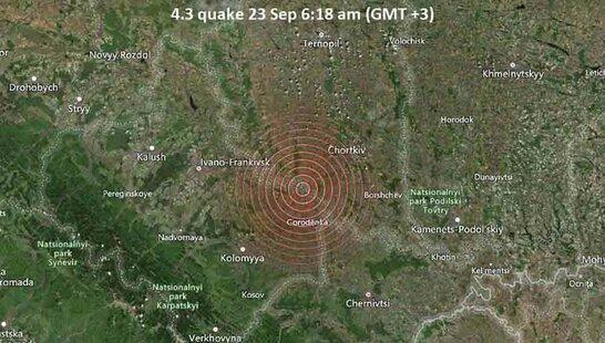На Тернопільщині зафіксували землетрус силою 4,4 бала